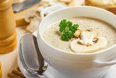 Суп-крем грибной с сухариками / Mushroom cream-soup with rusks